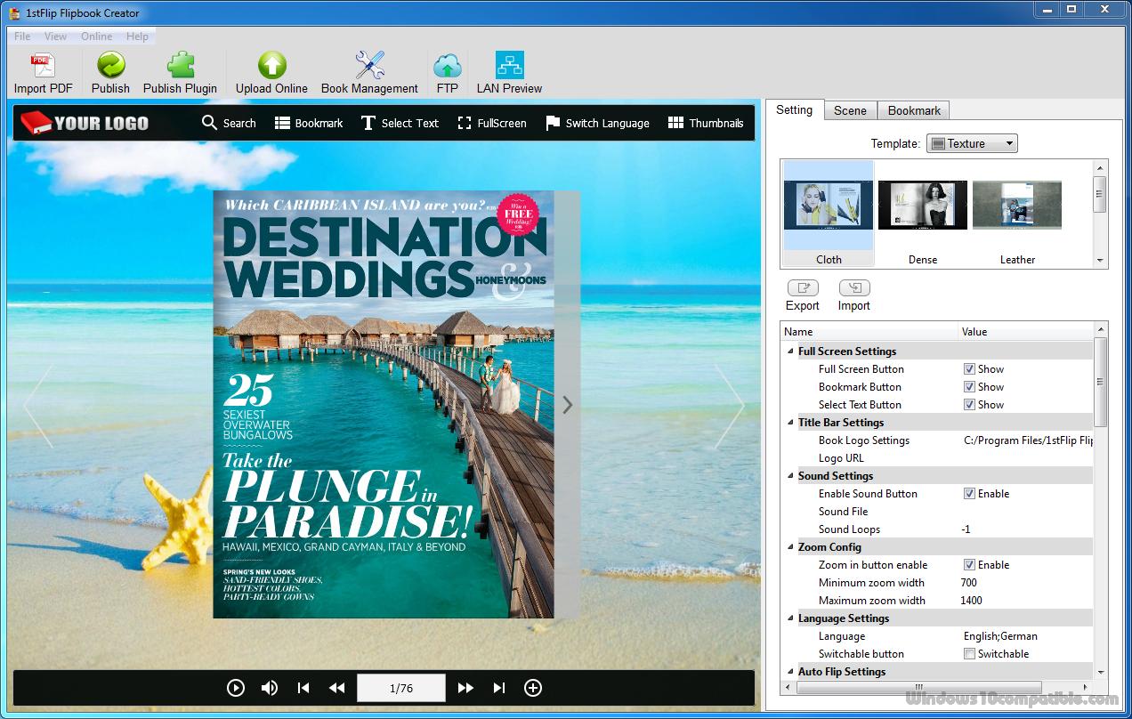 1stFlip Flipbook Creator for Windows 1.01.151 Free download